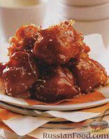 """Фото к рецепту: Китайский десерт """"Яблоки в карамели"""""""