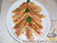 Фото к рецепту: Крабовые палочки в кляре