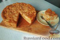 Фото к рецепту: Пирог с тыквой и яблоками