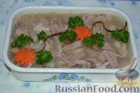 Фото к рецепту: Холодец из свиной рульки и курицы