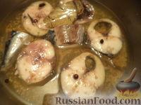 Фото к рецепту: Скумбрия маринованная с семенами горчицы