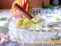 Фото к рецепту: Быстрый десерт с карамелизованным яблоком и корицей