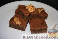 Фото к рецепту: Шоколадные брауни с грецкими орехами