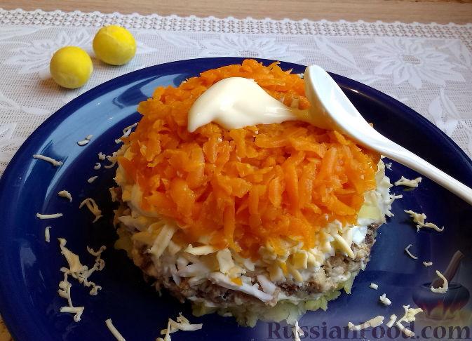 Салат мимоза с морковью и картошкой рецепт