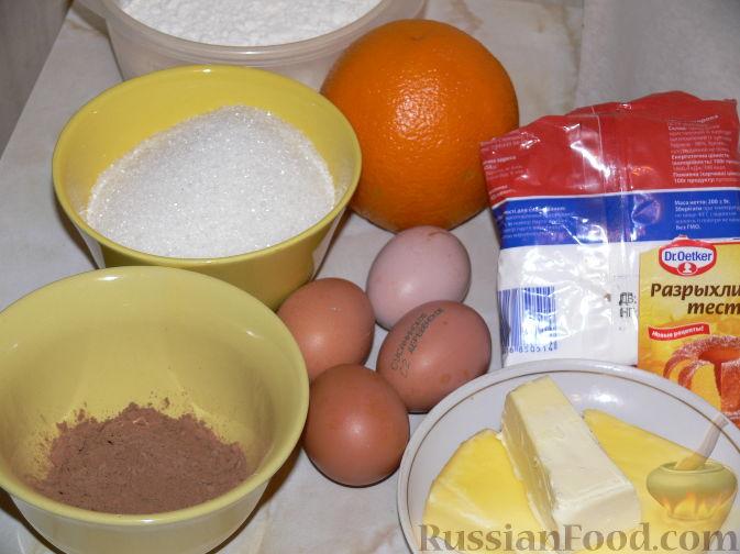 Фото приготовления рецепта: Шоколадно-апельсиновый кекс с орехами - шаг №1