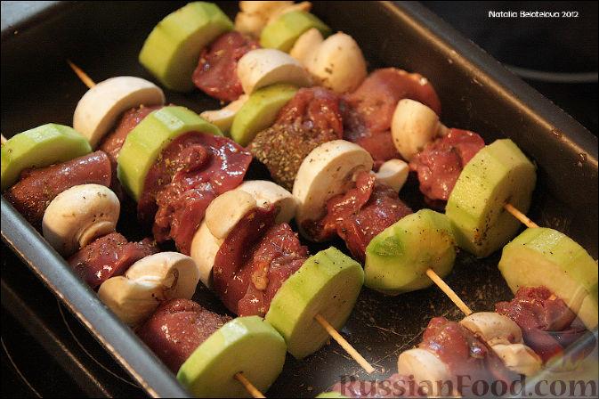 кабачки с печенью в духовке рецепт с фото