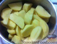 Фото приготовления рецепта: Картофель, запеченный в соевом соусе с чесноком - шаг №2