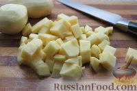 Фото приготовления рецепта: Сливочный суп с форелью или семгой - шаг №4
