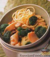 Фото к рецепту: Кальмары с брокколи