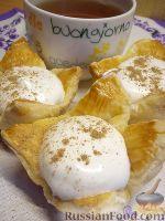 Фото к рецепту: Быстрые пирожные с белковым кремом