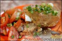 Фото к рецепту: Заливное с курицей и индейкой