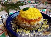 Фото к рецепту: Салат «Мимоза» с сардинами