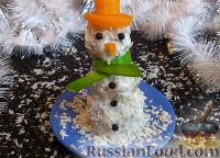 """Фото к рецепту: """"Снеговик"""" из куриных шариков в сливочном соусе"""
