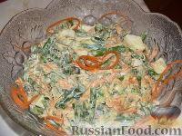Фото к рецепту: Изысканный салат со стручковой фасолью