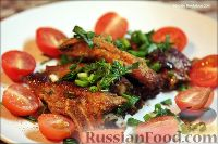 Фото к рецепту: Свиные ребрышки, запеченные в духовке