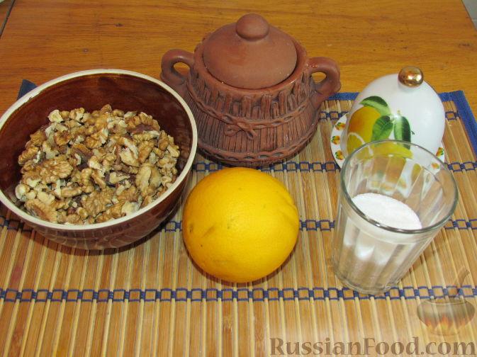 Фото приготовления рецепта: Лимонно-апельсиновые конфеты с орехами и медом - шаг №1
