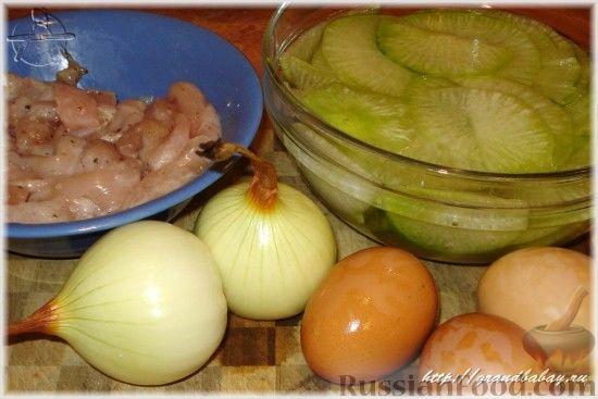 Фото приготовления рецепта: Салат из редьки с курицей - шаг №1