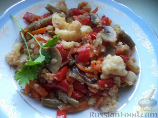 овощи в соевом соусе на сковороде рецепт