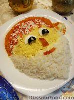 "Фото к рецепту: Детский салатик ""Дедушка Мороз"""