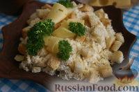 Фото к рецепту: Сырный салат с сухариками