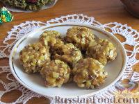 Фото к рецепту: Лимонно-апельсиновые конфеты с орехами и медом