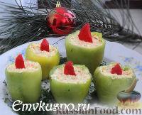 """Фото к рецепту: Закуска """"Рождественские свечи"""""""