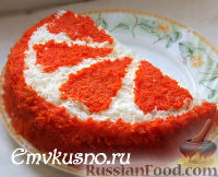 """Фото к рецепту: Салат """"Апельсиновая долька"""""""