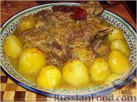 Фото к рецепту: Говяжья грудинка с картофелем и сладким перцем