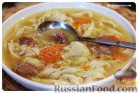 Фото к рецепту: Куриная лапша с овощами и яйцом
