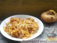 Фото к рецепту: Жареная репа с луком
