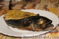 Фото к рецепту: Скумбрия, фаршированная картофельным пюре