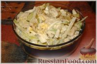 Фото к рецепту: Салат из редьки с курицей