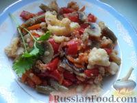 Фото к рецепту: Жареные овощи с соевым соусом