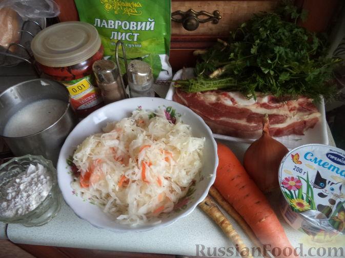 Кислые щи из квашеной капусты - кулинарный рецепт