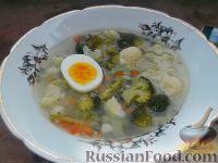Фото к рецепту: Суп из брокколи и цветной капусты