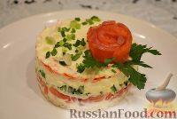 Фото к рецепту: Праздничный салат с семгой