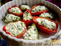 Фото к рецепту: Перцы, фаршированные фетой