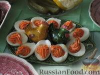 Фото к рецепту: Фаршированные яйца