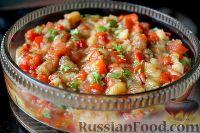 Фото к рецепту: Салат из запеченных баклажанов и перца
