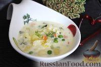 Фото к рецепту: Молочный суп с овощами