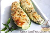 Фото к рецепту: Цуккини с сыром и орехами
