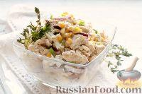 Фото к рецепту: Салат с кукурузой