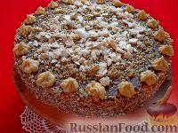 Фото к рецепту: Бисквитный торт с безе «Воздушный»