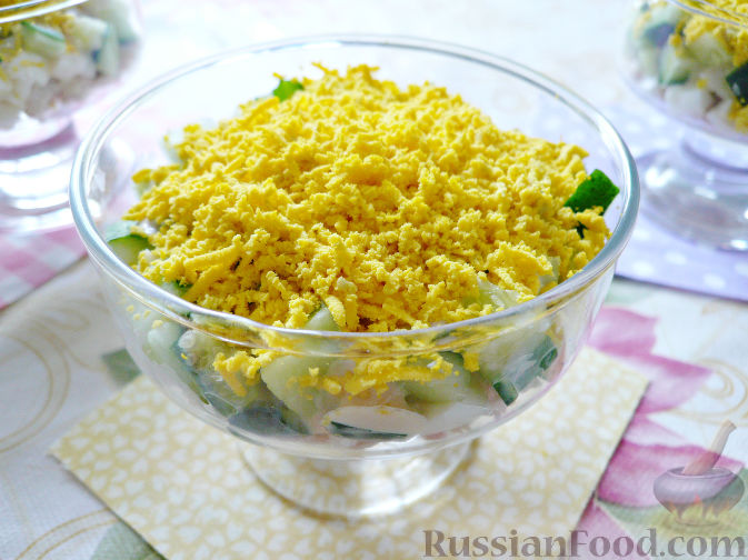 салат с окунем отварным рецепты