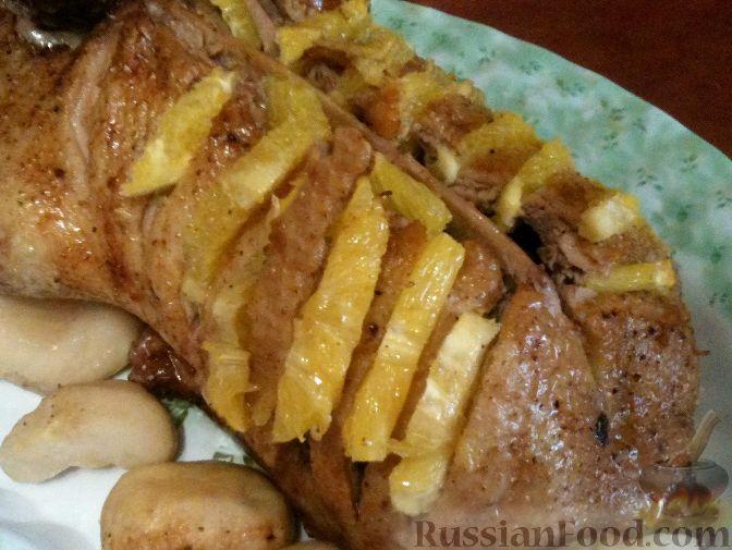 Утка с яблоками в утятнице в духовке пошаговый рецепт 134