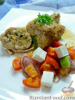 Фото к рецепту: Куриные ножки, фаршированные брынзой и кедровыми орешками