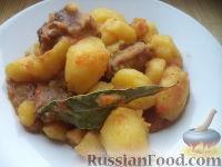 Фото приготовления рецепта: Картофель тушеный с мясом - шаг №11
