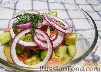 Фото к рецепту: Салат с лимонно-винной заправкой