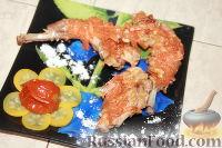 """Фото к рецепту: Кролик в молочно-соевом соусе, под морковно-луковой """"шубой"""""""