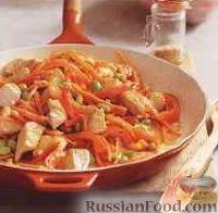 Фото к рецепту: Курица с морковью и бобами